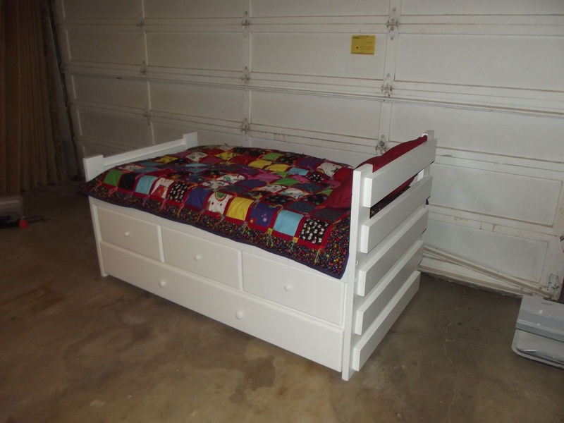 Twin Bed With Drawers And Trundle Monkey Bunky Woodworks