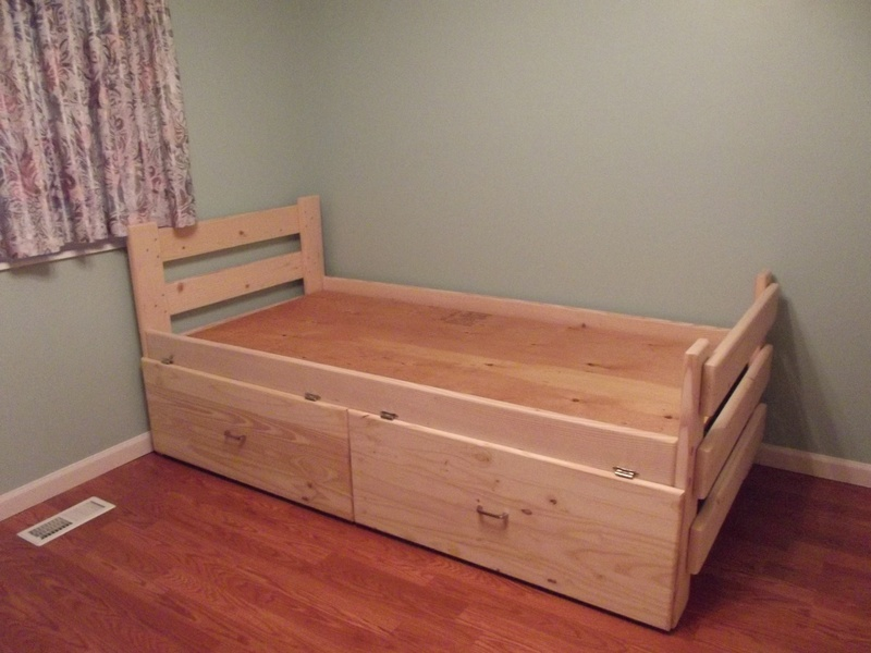 Bed frame drawers quotes - Extra long twin bed frame with storage ...